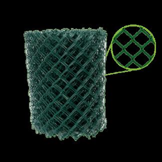 Rede malha elástica plastificada verde 50 x 14 x 11 (Rolo 25mts)