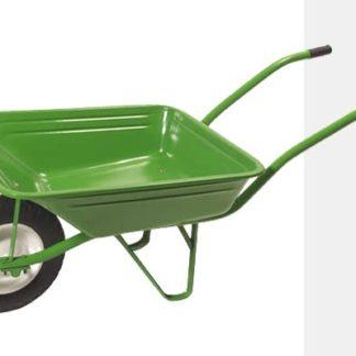 Carro de mão metálico verde