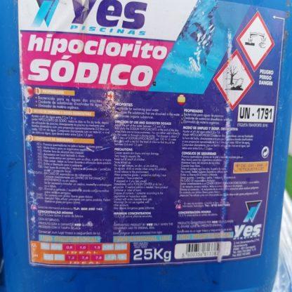 Hipoclorito sódico 25KG