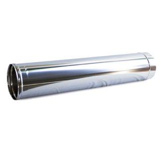 Tubo inox vara 1mt chapa 0.4
