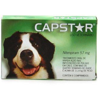 Capstar 11.4mg Cães e Gatos Pequenos 6 comprimidos