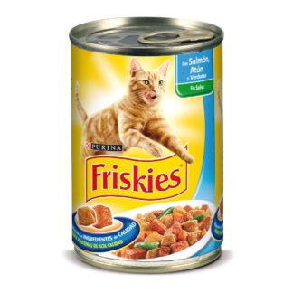 Friskies Gato Alimento húmido Salmão, Atum e Legumes 400gr