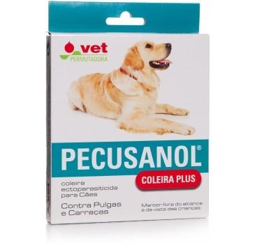 Pecusanol Coleira Plus Antiparasitária p/Cão