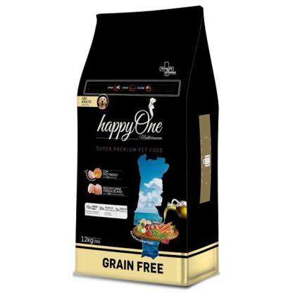 HappyOne Mediterraneum 0% Cereais Dog Adult 12kg (Envio Grátis)