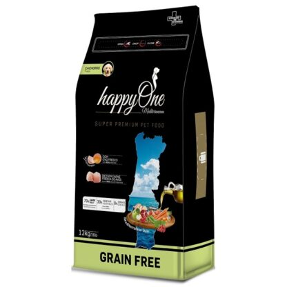 HappyOne Mediterraneum 0% Cereais Puppy 12kg (Envio Grátis)