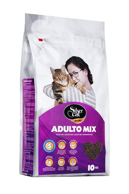 Silver Cat Adulto Mix 10Kg_500x600