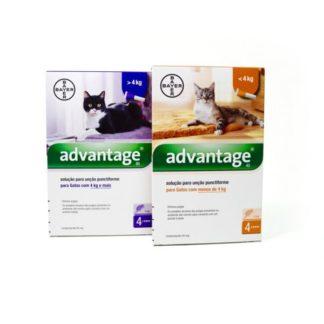 Advantage Gato menos de 4kg (4 pipetas)