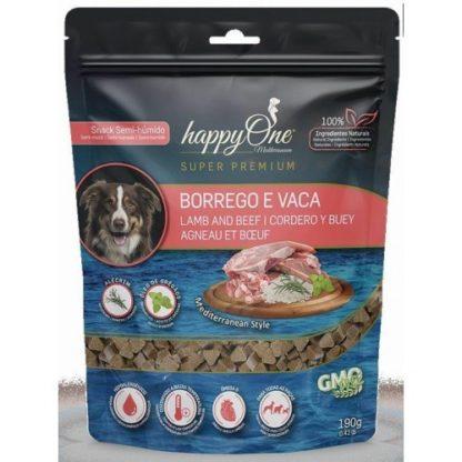 Snack Semi-Húmido HappyOne Mediterraneum Borrego e Vaca 190gr