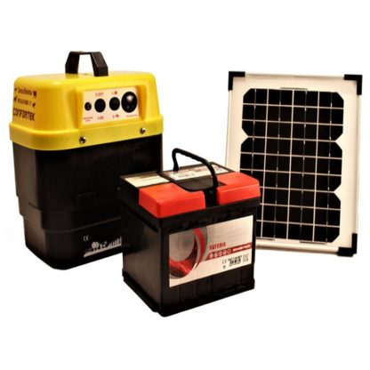 Cerca Eléctrica Solar 6000X + Painel + Bateria