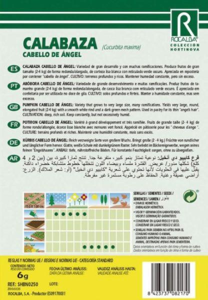 Abóbora Cabelo de Anjo