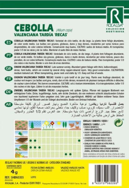 Cebola Valenciana Tardía