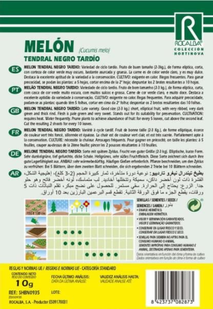 Melão Tendral Negro Tardío