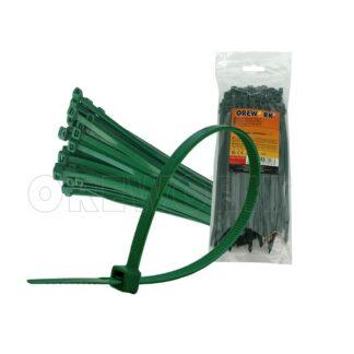 Abraçadeiras de Nylon Dentada Verde (100un)