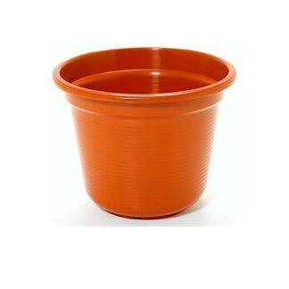 Vaso Plástico Tipo Sino Castanho